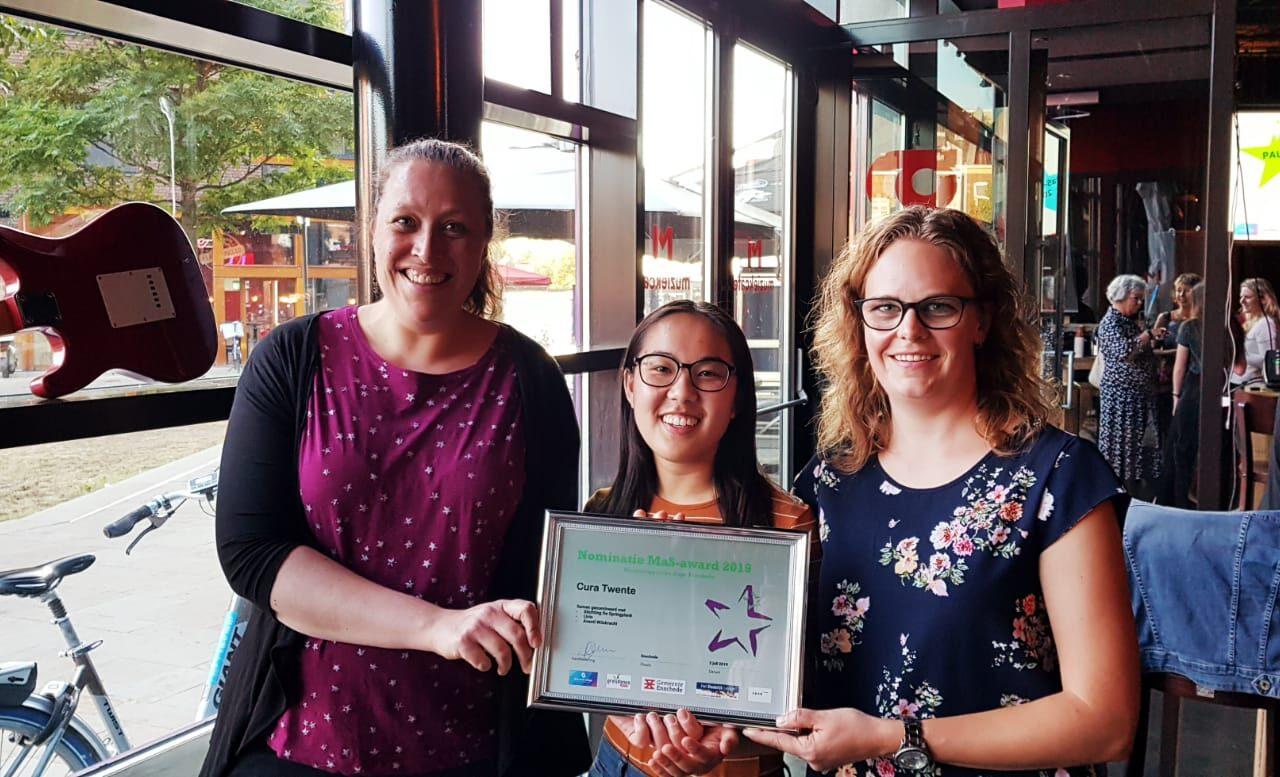 Cura Twente genomineerd voor MaS-award 2019